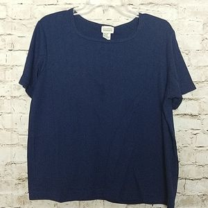 Classic Elements  Top Size Large Navy Blue